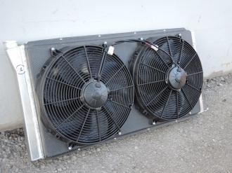 алюминиевый радиатор с вентиляторами