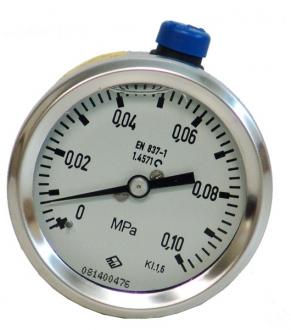 Манометр пневматический 0–10 атм.