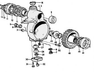 Подшипник ступицы внутренний Volvo Laplander