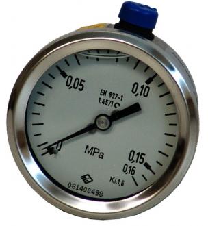 Манометр пневматический 0–1.6 атм